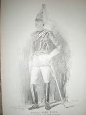 British Army Types Captain 1st Life Guards Arthur Jule Goodman 1897 old print