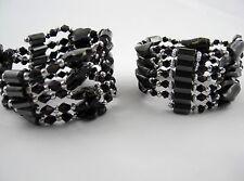 Hematita Imán Cadenas O PULSERAS Diverse Diseños color: Negro Granito
