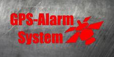 Aufkleber GPS ALARM SYSTEM Sticker 2 Stück Verschiedene Farben Warnung gps