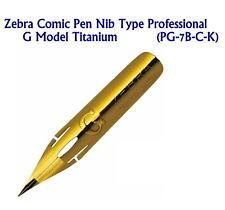 Zebra Comic Pen Nib Type Professional G Model Titanium (PG-7B-C-K)