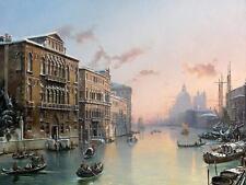 GRAND CANAL VENICE by F. Nerly boats Tile Mural Kitchen Backsplash Ceramic 10x8