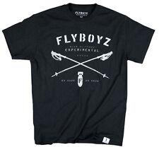 FlyBoyz® Men's Ski Snowboard Cotton Black T-Shirt Plow Tee