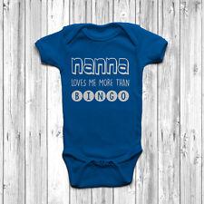 Nanna 'mi ama più di BINGO BABY GROW Tuta Gilet divertenti umorismo