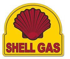 Vintage Shell Gas Service Station Metal Sign Man Cave Garage Body Shop Barn Shed