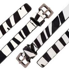 Womens Belt Ladies Fashion Zebra Print Thin Strap Waist Animal Patent Plus Size