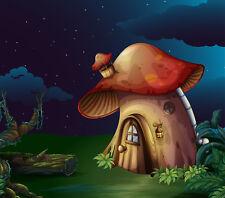 Fototapete Selbstklebend Pilzhaus Haus Nacht Kinderzimmer - Made in Germany -