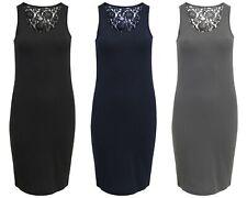 Vestito donna abbie SL lace dress corto con pizzo 15118870 NERO BLU GRIGIO