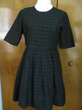 Gap women's black pleated cotton dress size 10P 8 14 20 NWT
