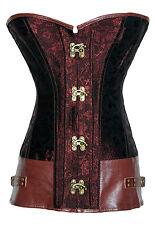 Corset Bustier Serre-Taille Marron  Steampunk Gothique Baroque Vintage + String