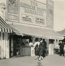 1916 VENICE BEACH CA BOARDWALK AMERICAN BEAUTY BARBECUE BOTTLES BURGERS PHOTO