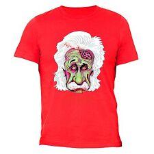Got Brains? Zombie Einstein T-shirt Scientist Mustache Genius Blood Cool Funny