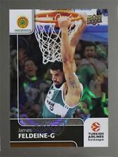 2016 Upper Deck Euroleague Patterned Rainbow #43 James Feldeine Basketball Card