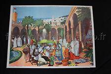 B881 Affiche ecole poster CHRETIENS en ORIENT SEIGNEUR et PAYSAN Rossignol