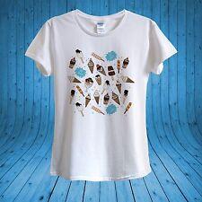 Crème Glacée Ice Lolly Popsicle DOODLE Hot Summer T-shirt 100% coton unisexe femmes