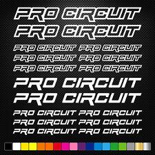 PRO CIRCUIT 16 Stickers Autocollants Adhésifs Auto Moto Voiture Sponsor
