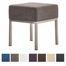Tabouret bas LAMEGA tissu design chaise siege salon rembourré cuisine neuf