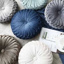 Round Velvet Chair Cushion Couch Pumpkin Throw Pillows Home Room Decorative