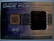 02-03 UD Hardcourt Game Floor / GAME FILM CHRIS WEBBER CW-FF KINGS !!! BOX # 33