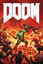 187664 Doom Game PC Box Atari Xbox PS4 3DO Snes Wall Print Poster CA