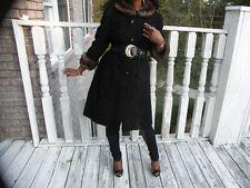 demi Full length black persian Lamb & Gray sapphire mink Fur Coat  Stroller S-M