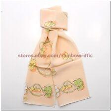 Salvatore Ferragamo Ladies Long Silk Wrap Scarf Orange NWT Gift Box Authentic