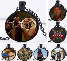 Walking Dead Rick Negan Daryl Photo Cabochon Pendant Black Chain Free Gift Bag