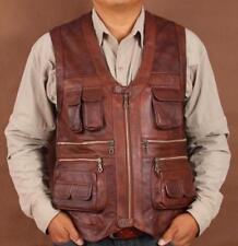 Hot Sale Motorcycle Camping Men Vest Casual Multi-pocket Waistcoat Sleeveless Sz
