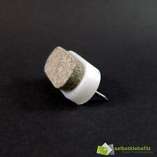 Pro 2 Light Bulb Nagelgleiter Furniture Glider 38x18mm Wool Felt White