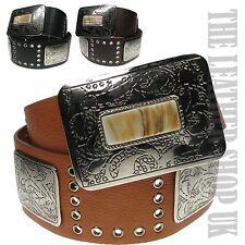 UK Mujer Nuevo Precioso Plato Cuadrado Vestido Diseño Cinturón wm13