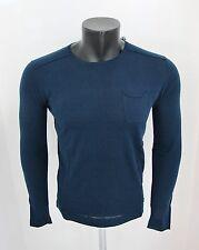 AT.P.CO suéter hombre de algodón cuello redondo A124G08 GC16 en azul verano 2016