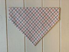 Handmade Checked Shirt Fabric Over Collar Dog Bandana - Medium