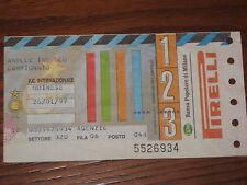 INTER UDINESE BIGLIETTO TICKET 1996/97 SERIE A