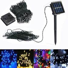 LED Solar Lichterkette Weihnachten Außen Party Garten Deko Batterie Bleuchtung
