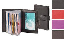 XXL: Leder Kreditkartenetui Visitenkartenetui Kartenetui schwarz 22/42 Karten HF