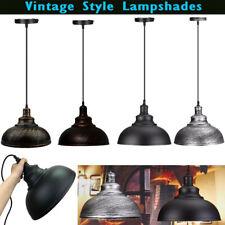 Retro Industrial Pendant Lighting Iron Shade Vintage Curved Loft Ceiling Light