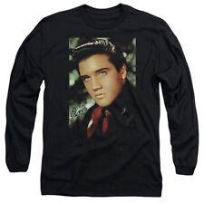 Elvis Presley The King Rock Red Scarf Adult Long Sleeve T-Shirt Tee