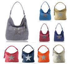 Women Fashion Canvas Sparkling Star Tote/ Shopper/ Shoulder Handbag/ Hobo Bag