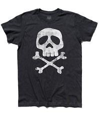 T-shirt uomo CAPITAN HARLOCK teschio skull Arcadia Jolly Roger cartoni anni 80