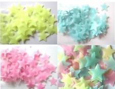 3D Sterne fluoreszierende, nachtleuchtende Wandaufkleber, 50 Stück Kinder Dekor