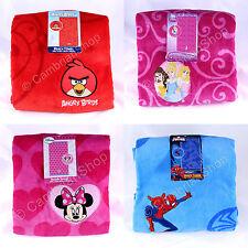 100% Cotton Beach Bath Towel Angry Birds Disney Princess Minnie Mouse Spiderman