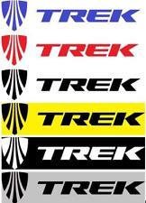 "Trek 4.5"" Vinyl decal weather proof 2 bike stickers heavy duty glue many colors"