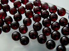 Vintage untreated gem qualilty Garnet 5.8-6 mm half drill round bead DIY Earring