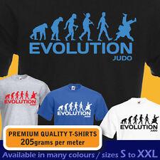 Ape Evolution des Arts martiaux Judo Sport Olympique Drôle T-Shirt Hommes Femmes Garçons