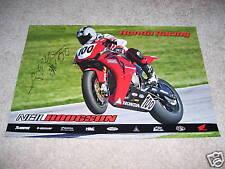 Signed Neil Hodgson #100 Honda 2008 Poster CBR1000RR