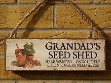 Personalizzata GIARDINO CAPANNONE segno NEGOZIO sementi semi giardino piante fiori giardino Strumento