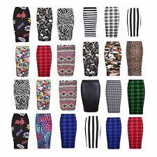 Women Printed Midi Bodycon Pencil Skirt Ladies High Waist Tube Skirt Fancy Dress