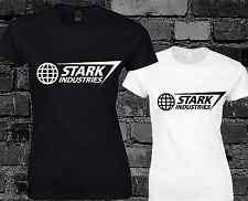 Stark Industries Ladies T Shirt Top Iron Man Avengers Movie Film Sci-Fi Print