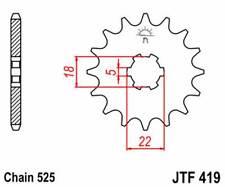 F41915: JT SPROCKETS Piñon JT 419 de acero con 15 dientes