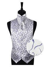 "Men's Purple Scroll Wedding Party Waistcoat -Size 34"" - 60"" Choice Cravat or Tie"