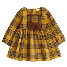 3-8T girls dress 2017 Autumn new fashion Striped long sleeve girl clothing